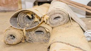old carpet is a common type of rubbish