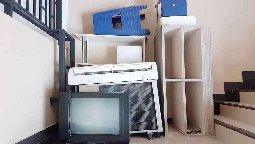 Old tv and furniture