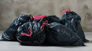 Household rubbish bagged