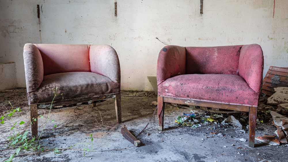 Chairs are old and need disposal