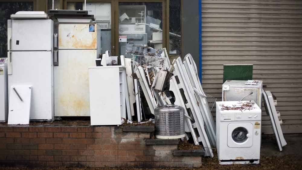Whitegoods ready to be disposed